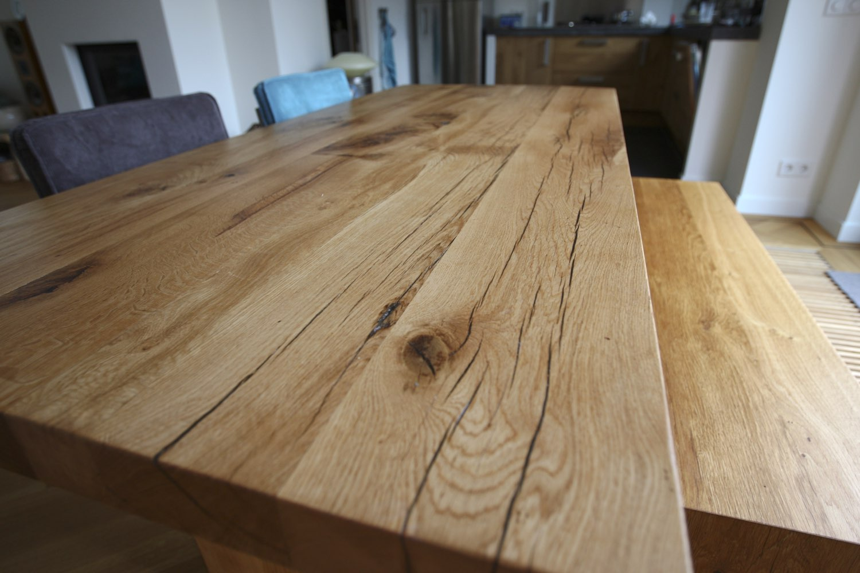 Massief eikenhouten tafel  u2013 Jaap van Ulden