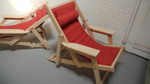 Ligstoel rood